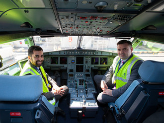 Gavin Newlands MP visits Glasgow Airport for launch of the new AirBus