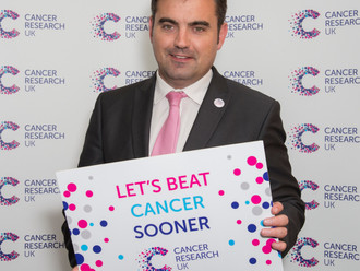 Gavin joins Cancer Research UK's fight to beat cancer sooner