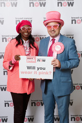 Gavin Newlands MP poses in pink to support Breast Cancer Now's flagship fundraiser wear it pink