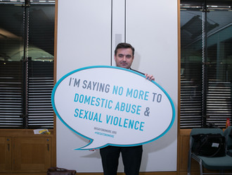 Gavin Newlands MP support UK SAYS NO MORE Week to take a stand to prevent domestic abuse and sexual