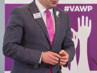 Gavin Newlands MP, speaking at Violence Summit, calls on all men to challenge abusive behaviour