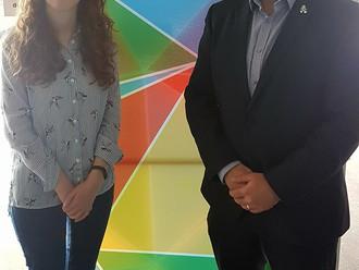 Gavin Newlands MP congratulates incoming Student President
