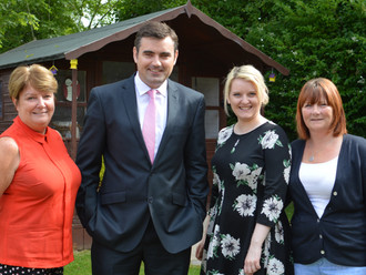 MP visits Alzheimer Scotland's Memory Lane Club in Paisley