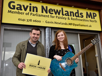Local MP backs Paisley star in 'Rock the House' battle
