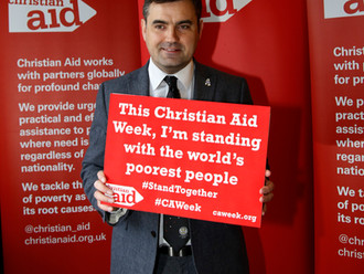 Gavin Newlands MP shows his support for Christian Aid Week