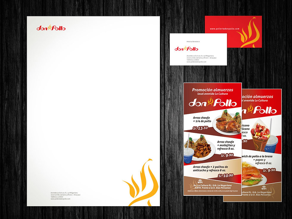 Peltier DSGÑ - Peltier Design  Branding, Don Pollo