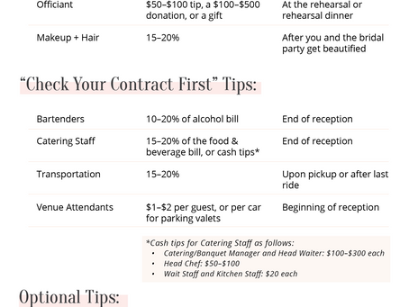 Tipping Your Vendors