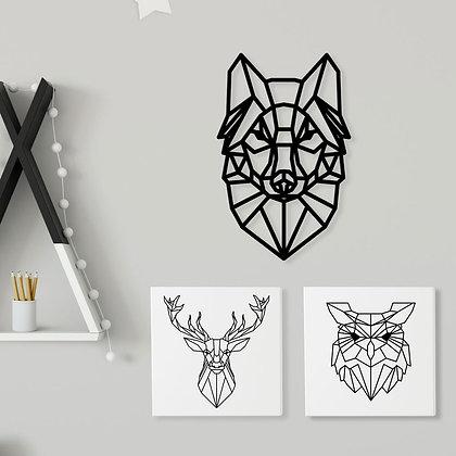 Canvas A02 > Animales Geométrico B&W
