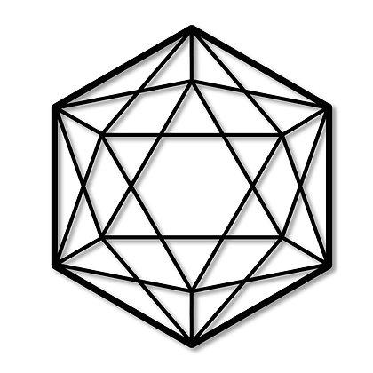 Hexágono Estrella> Figura madera