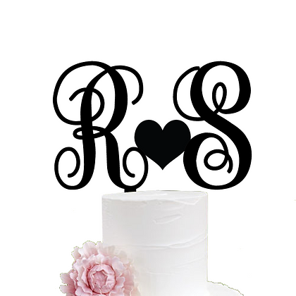 Cake Topper  > Monogram