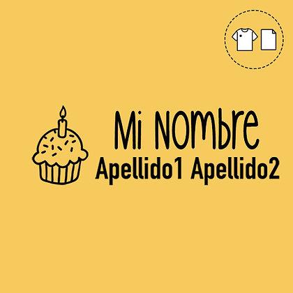 Sello Ropa y Papel >Cupcake