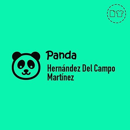 Sello Ropa y Papel > Panda