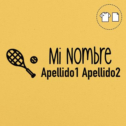 Sello Ropa y Papel >Tennis