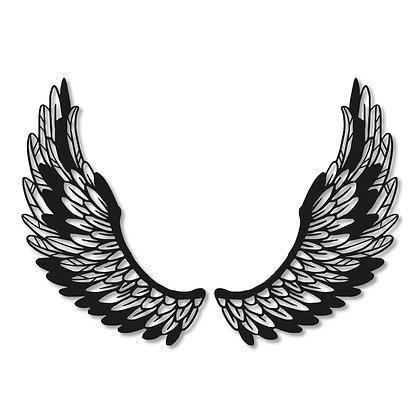 Alas ángel arriba> Figura madera