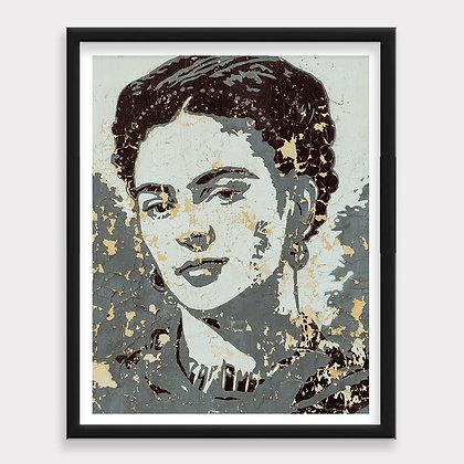 Frida Graffiti Pared Art Print