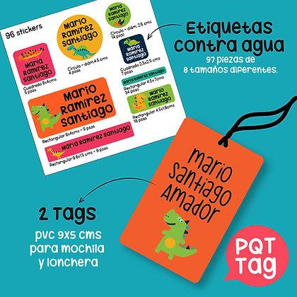 PQT  NAMETAG> Etiquetas Contra Agua + 2 Tags
