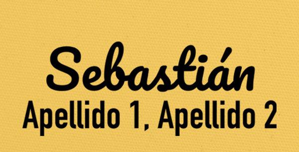 Sello Ropa y Papel >Letra8