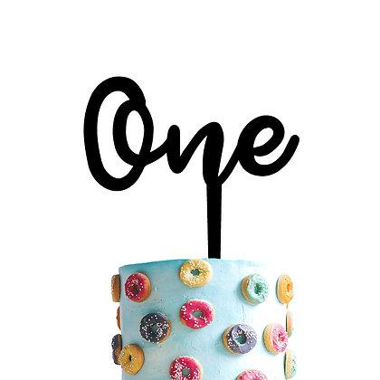 Cake Topper > Número - 1 palabra