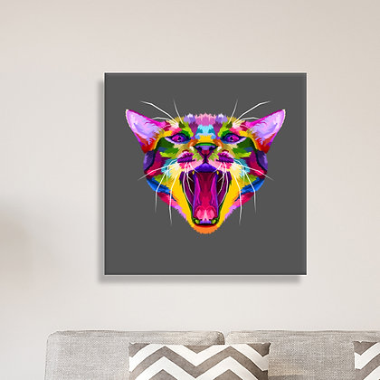 Canvas A04 >Gato Multicolor