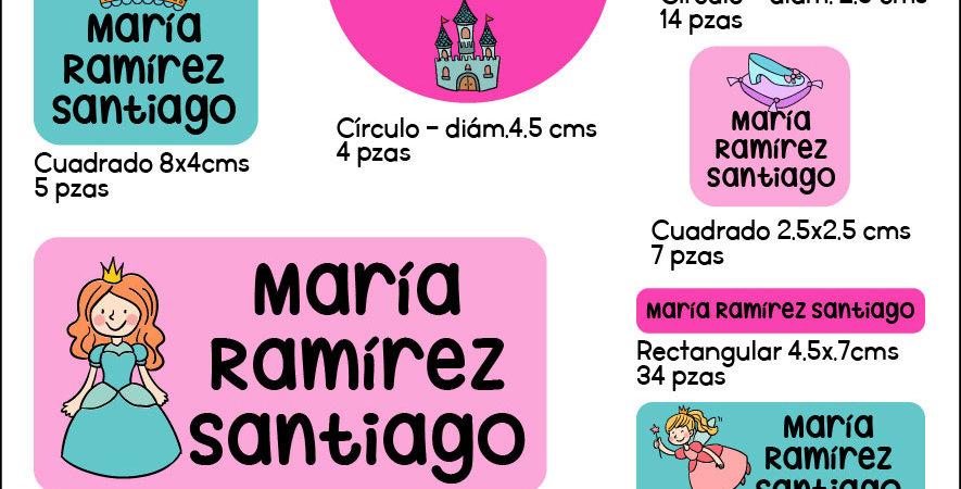 Etiquetas contra agua > Princess