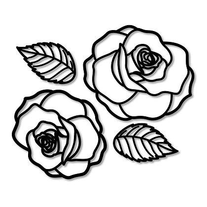 Rosas>  Figura madera