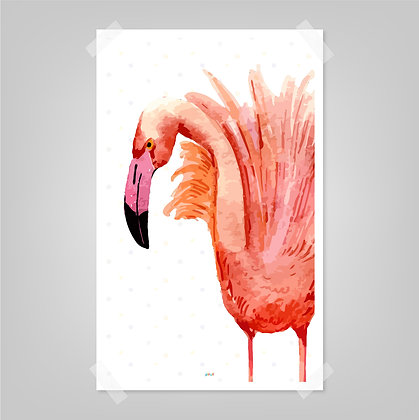 Prints> Flamingo Acuarela