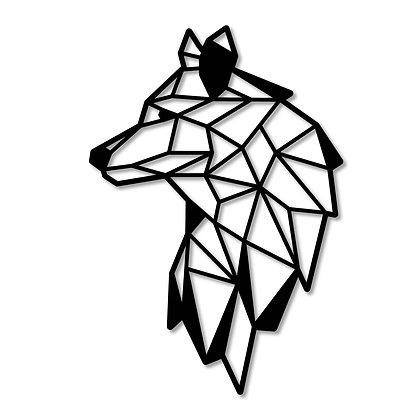 Lobo perfil > Figura madera