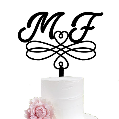 Cake Topper > Vintage Iniciales
