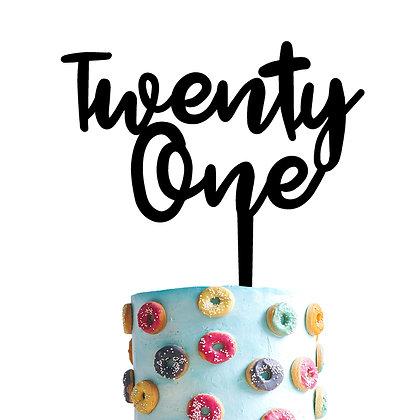 Cake Topper > Número - 2 palabra