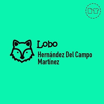Sello Ropa y Papel > Lobo