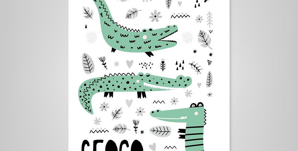 Prints A16> Croco Friends