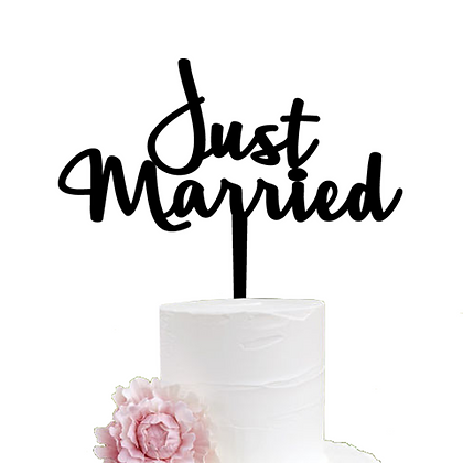 Cake Topper > Just Married
