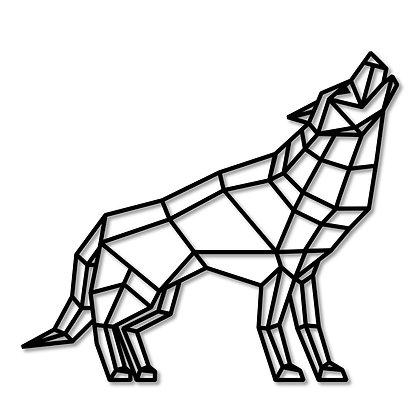 Lobo Perfil> Figura madera