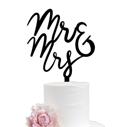 Cake Topper > Mr - Mrs