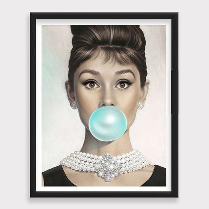 Audrey Bubble Art Print