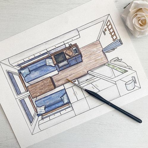 Custom painting of your van conversion - build in progress