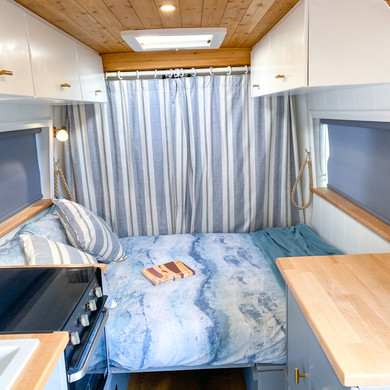 Bed and overhead storage