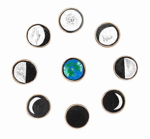 Moon Phase Wood Slices