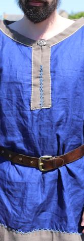 Chemise lin bleu roi