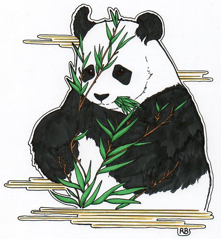 panda aux bambous