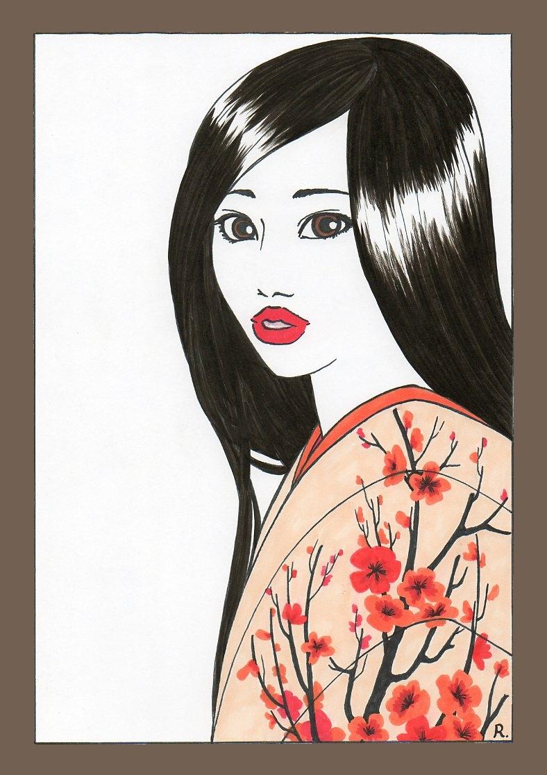 Akira Uhara cadre brun pale.