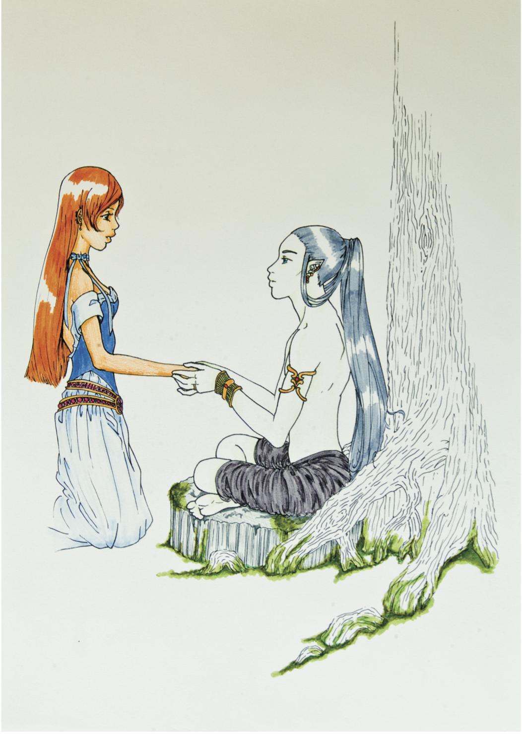 Sanaë et Miracle (fille de V et H)