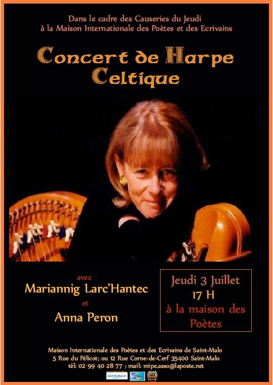 affiche concert harpe