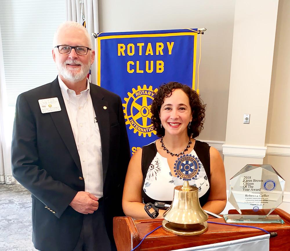 Rebecca Geller receives the Karen Brown Citizen of the Year Award