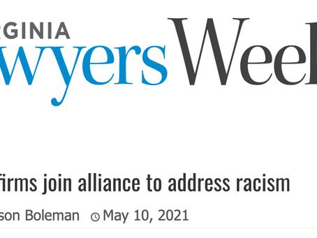 Virginia Lawyers Weekly Highlights Geller Law Group Antiracism Efforts
