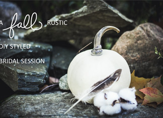 A FALL RUSTIC DIY STYLED BRIDAL PHOTO SESSION