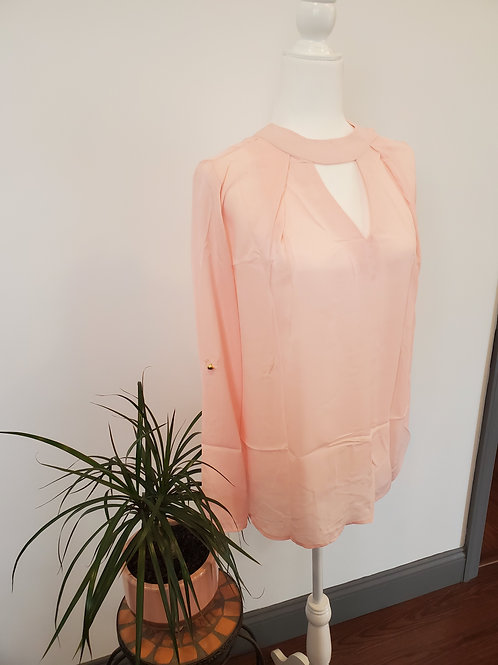 Pink Choker Cut Blouse