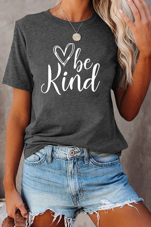 """""""Be Kind"""" Gray T-Shirt"""