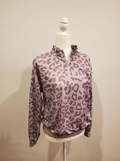 Leopard Print 1/4 Zip