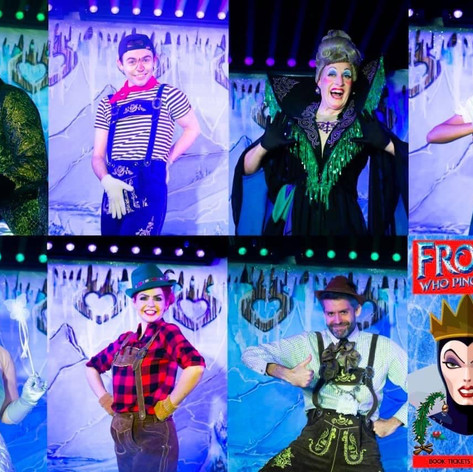 The cast of Frostbite at the Garden Theatre